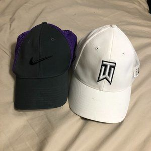 Other - Two Nike Baseball Hats- Tiger Woods and Purple RZN